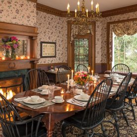 Dining room at The Yellow House