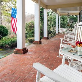 Front porch at The Yellow House