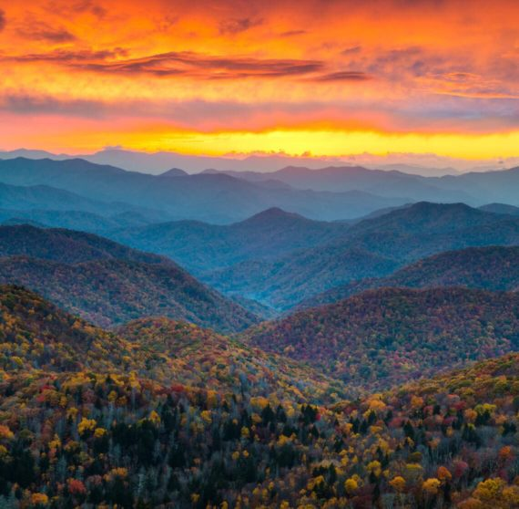 Blue Ridge Parkway at the Great Smoky Mountains