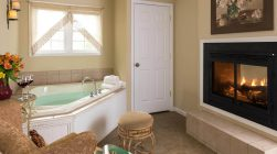 Kinsale Suite Jacuzzi bath and fireplace