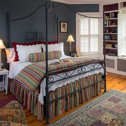 Cozy bed at our Waynesville, NC bed and breakfast
