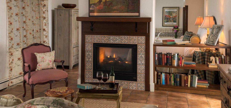 Vineyard Suite fireplace