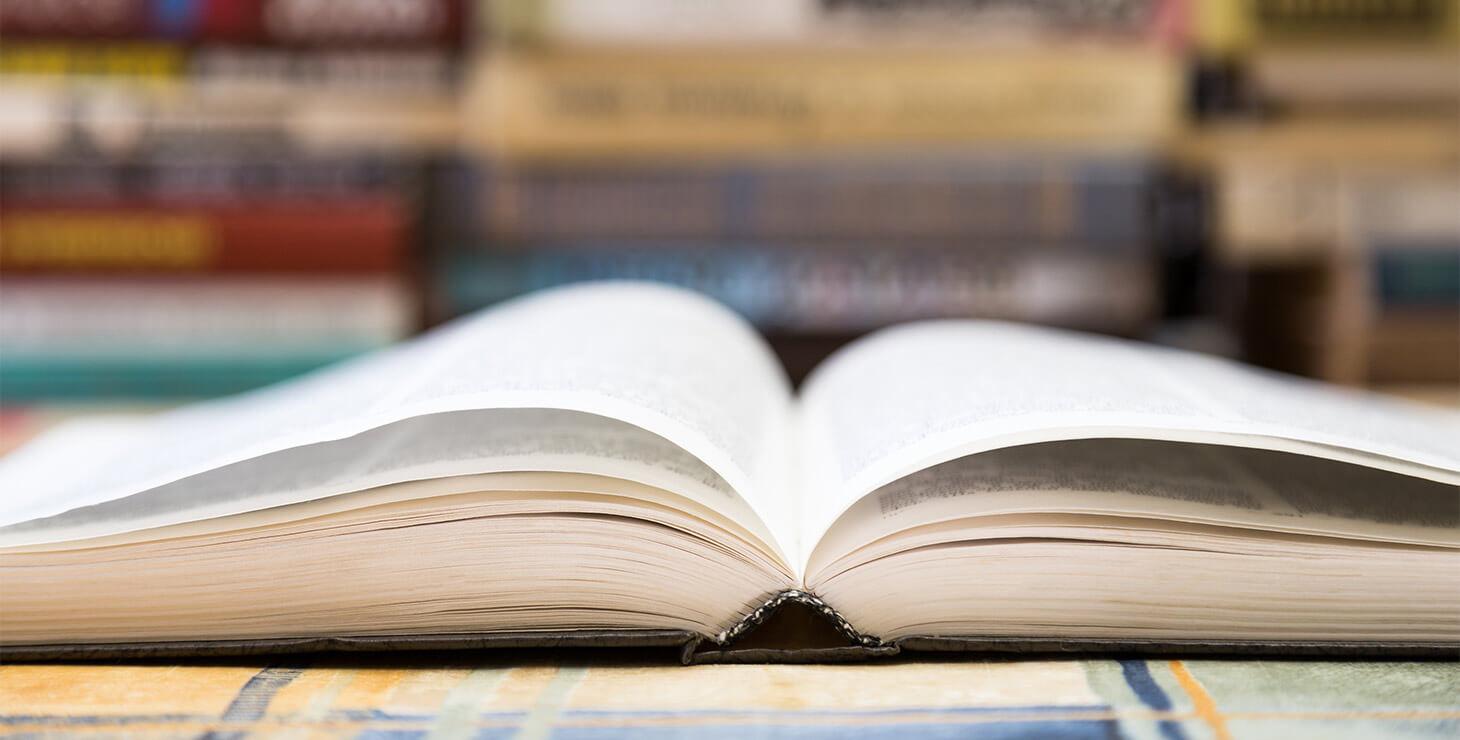 Open Book in a Bookstore