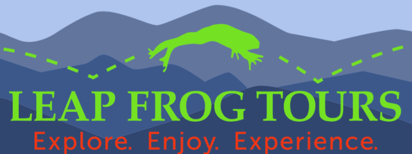 Image is of Leap Frog Tours in Western North Carolina.