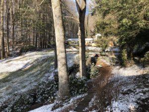 Pond House First Snow