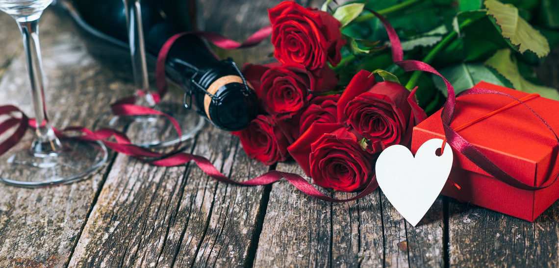 Valentine's Day Package at Yellow House with Roses, champagne