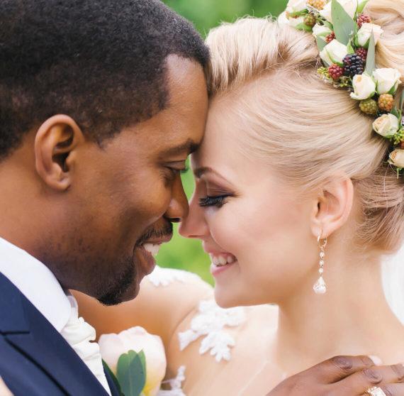 Bride and groom at our North Carolina wedding venue