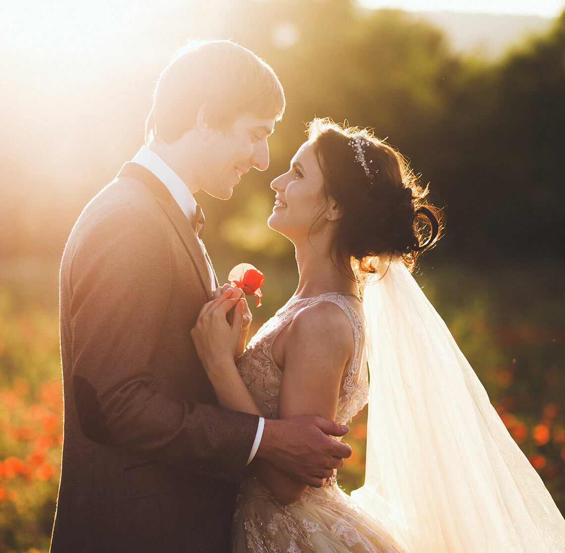 Bride and groom at their elopement in Waynesville, NC