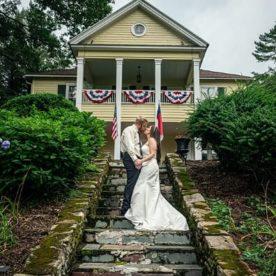 Bride and groom at our Waynesville, NC wedding venue