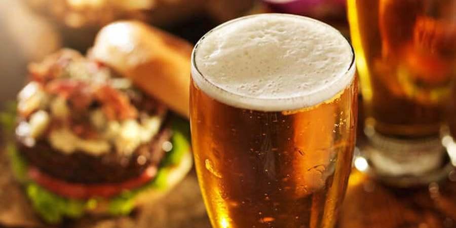 Beer and burger on North Carolina Winter Getaway