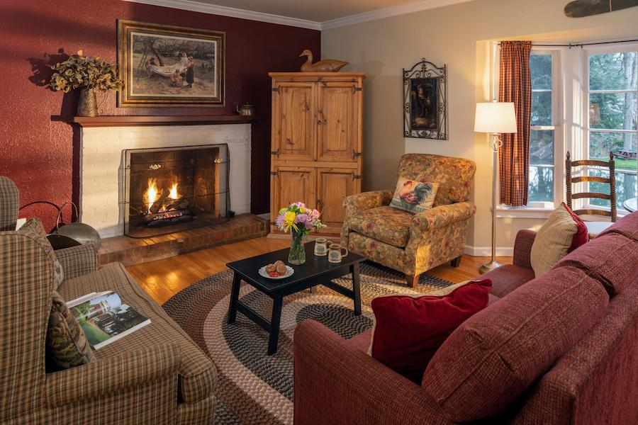 Guest Suite with Fireplace at our Waynesville bed and breakfast
